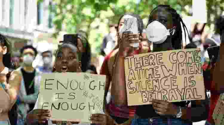 A morte de George Floyd deu força ao debate sobre racismo nos EUA - Getty  - Getty