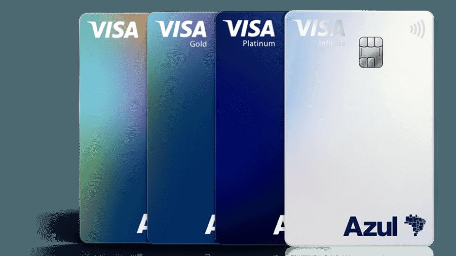 Cartões de crédito da Azul em parceria com o Itaú e a Visa  - Divulgação
