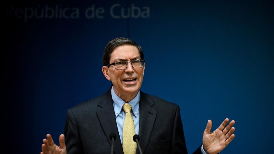 """O chanceler cubano, Bruno Rodríguez, afirmou que não houve em Cuba """"um ato de repressão contra o povo"""" - Yamil Lage/AFP"""