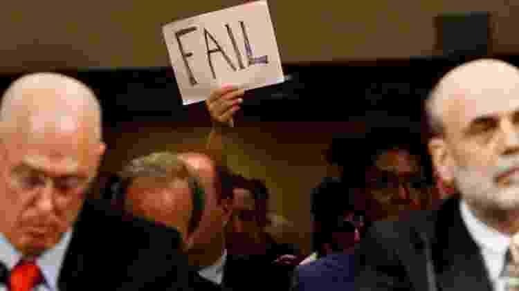 O secretário do Tesouro, Henry Paulson, e o presidente do Fed, Ben Bernanke, comandaram as ações anticrise em 2008 - Getty Images - Getty Images