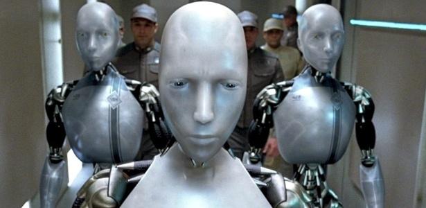 Cena do filme Eu, Robô, baseado na ficção de Isaac Asimov, em que as máquinas participam de uma conspiração contra a humanidade
