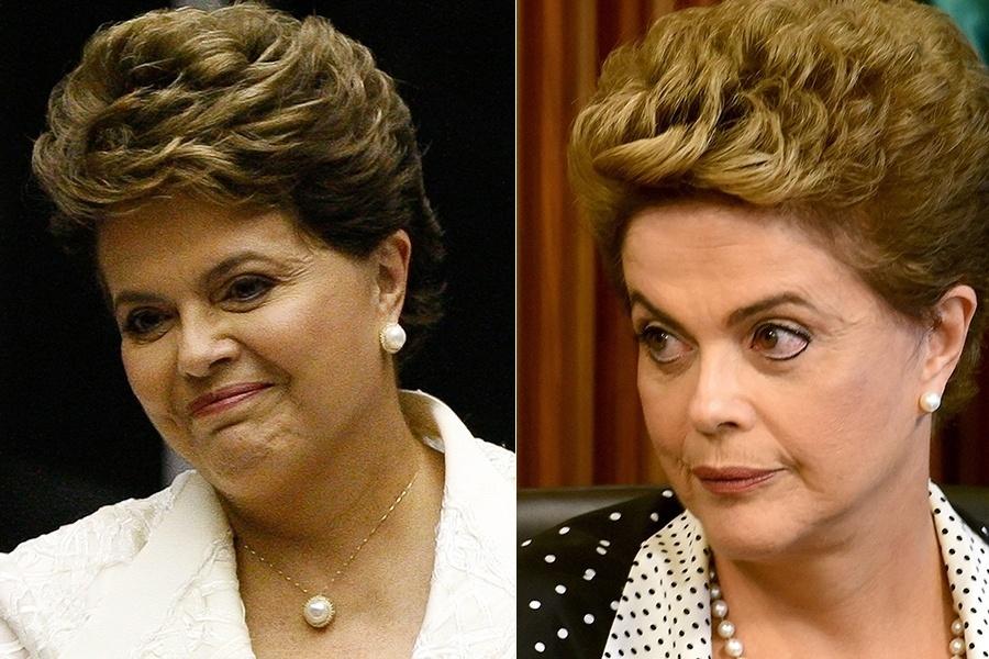 A atual presidente do Brasil ainda não chegou ao fim de seu segundo mandato, mas Dilma Rousseff já passou por algumas mudanças físicas. O que achou da diferença da presidente entre 2011, com 63 anos, e agora, com 68?
