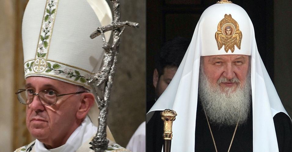 12.fev.2016 - O papa Francisco, chefe da Igreja Católica Romana, se reúne nesta sexta-feira com o patriarca da Igreja Ortodoxa Russa, Kirill (Cirilo). Esse será o primeiro encontro entre os líderes de dois dos principais ramos do cristianismo desde sua separação, no ano de 1054
