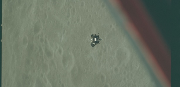 Imagem feita pela Apollo 10 durante sobrevoo na superfície lunar, 1969