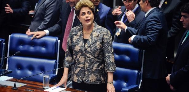 Dilma Rousseff citou o nome de Eduardo Cunha várias vezes durante sua defesa no Senado - Marcos Oliveira/Agência Senado
