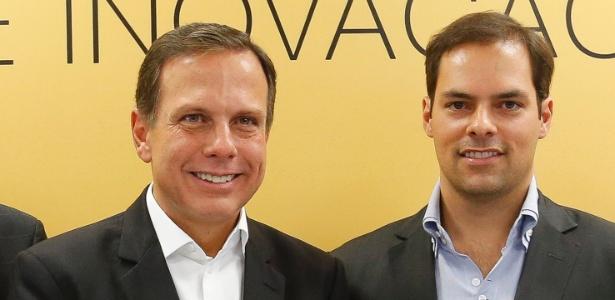 O prefeito João Doria (PSDB) e Paulo Uebel, secretário de Gestão da prefeitura