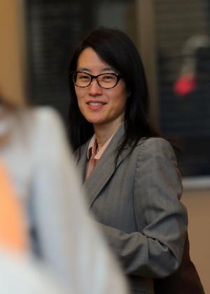 10.abr.2017 - Ellen Pao, ex-funcionária de uma empresa de capital de risco, que sofreu com o machismo e o assédio sexual no seu antigo local de trabalho