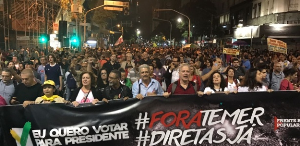 Protesto no Rio de Janeiro, esta semana, contra Michel Temer