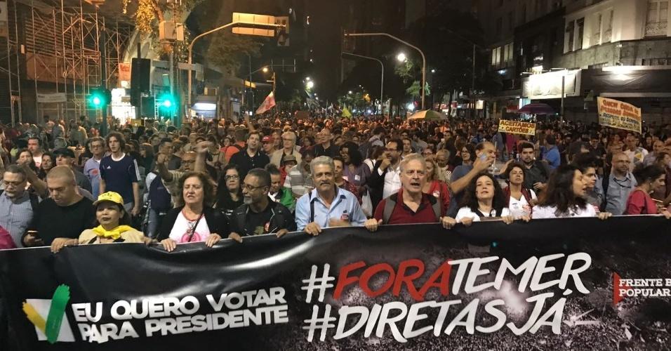 Protesto no Rio de Janeiro contra Michel Temer