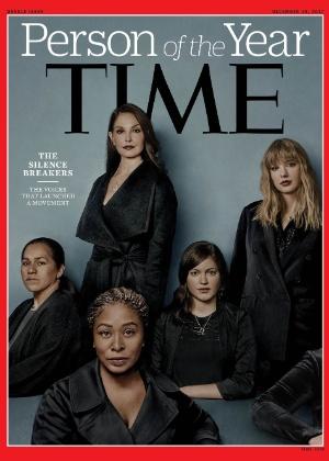 Símbolos da campanha: Ashley Judd (atriz), Taylor Swift (cantora), Isabel Pascual (lavradora), Adama Iwu (lobista) e Susan Fowler (ex-engenheira do Uber)