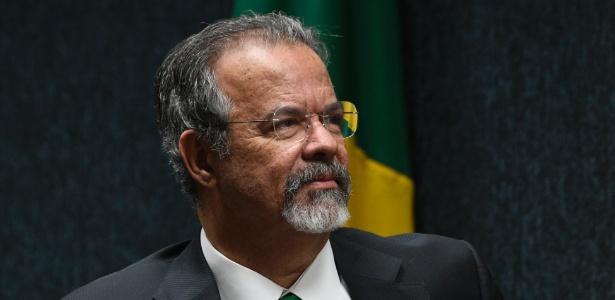 O ministro da Segurança, Raul Jungmann, durante cerimônia de apresentação do Cadastro Nacional de Presos