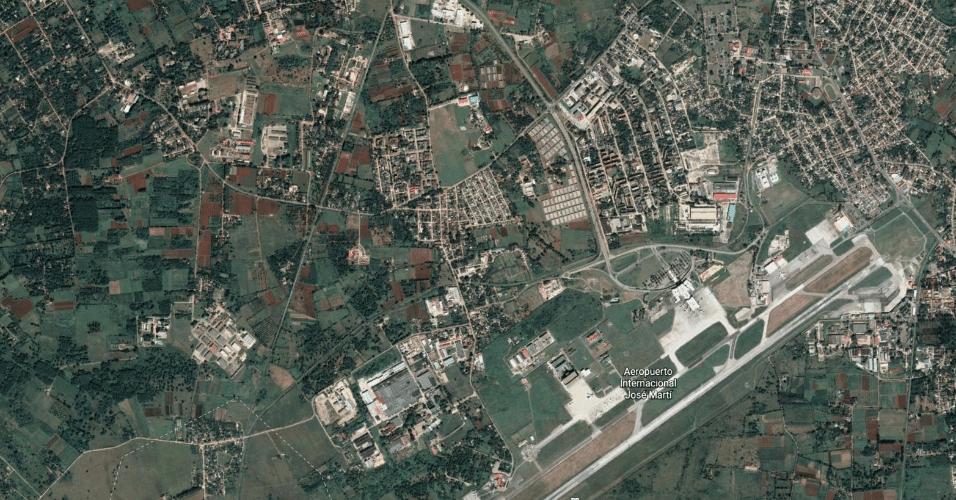 Imagem aérea do aeroporto internacional José Martí, em Havana, Cuba