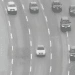 Carros da Polícia Federal levam o ex-presidente Michel Temer para o aeroporto de Cumbica - Reprodução/Globo News