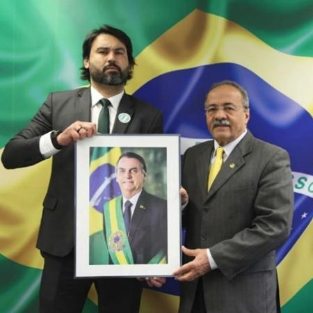 Leo Índio, sobrinho de Bolsonaro (à esq.), e o senador Chico Rodrigues - Reprodução/instagram