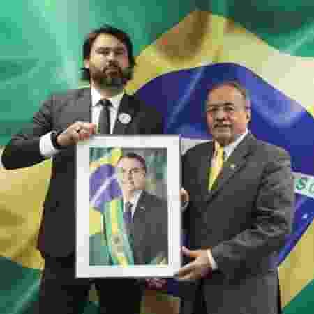 Leo Índio, primo dos filhos do presidente Jair Bolsonaro, e o senador Chico Rodrigues (DEM-RR) - Reprodução/instagram