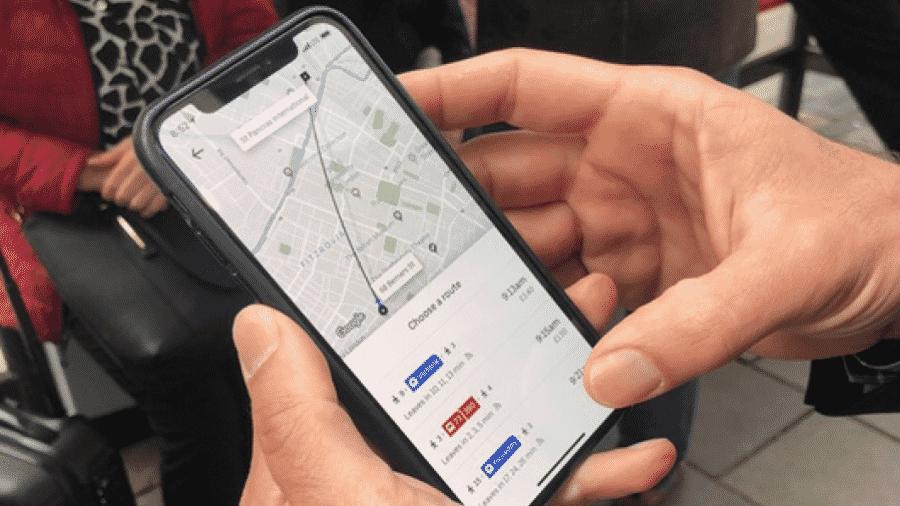 Uber mostra horários do transporte público em seu aplicativo para a cidade de Londres - Reprodução/Twitter/Dara Khosrowshahi