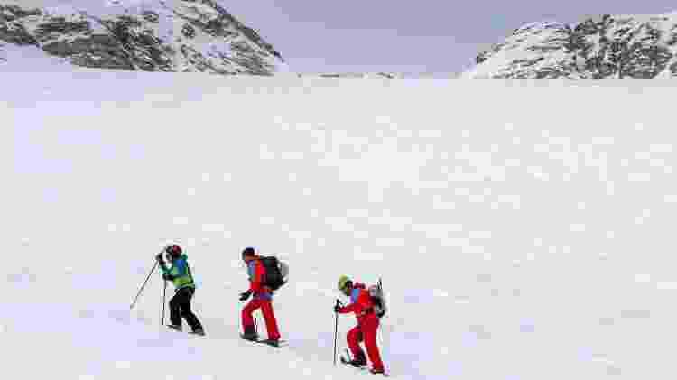 Getúlio escalou o pico Punta Penia, a 3.343 metros de altitude - Divulgação