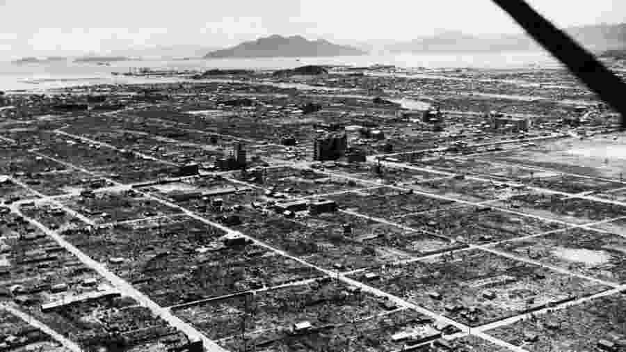 Cidade de Hiroshima destruída na Segunda Guerra  - Getty Images/BBC