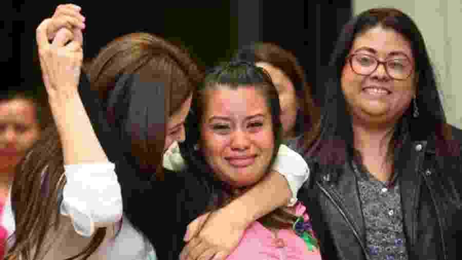 """""""Graças a Deus se fez Justiça"""", declarou Evelyn Hernández ao saber o veredito - Getty Images"""