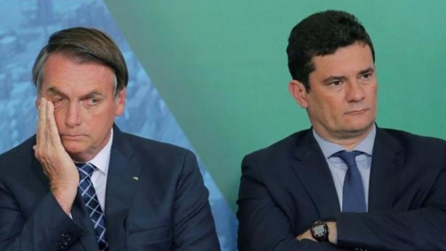 Bolsonaro e Moro: eles lutam na lama do reacionarismo não porque pensem coisas distintas, mas porque cultuam os mesmos valores e querem a mesma coisa - Adriano Machado/Reuters