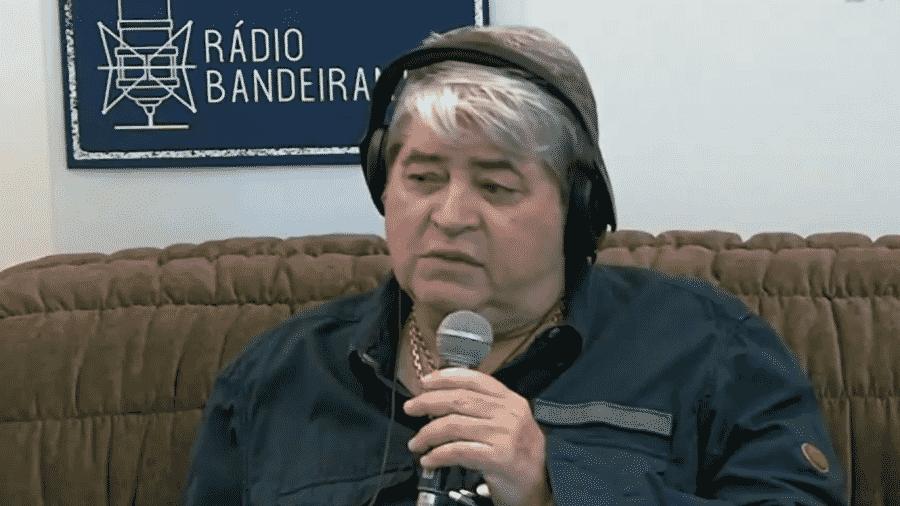 Datena em participação na Rádio Bandeirantes - Reprodução/Facebook