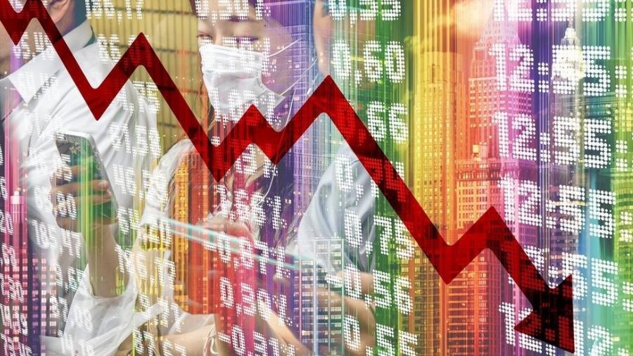 Gráfico ilustra queda de atividades por conta do novo coronavírus - BBC