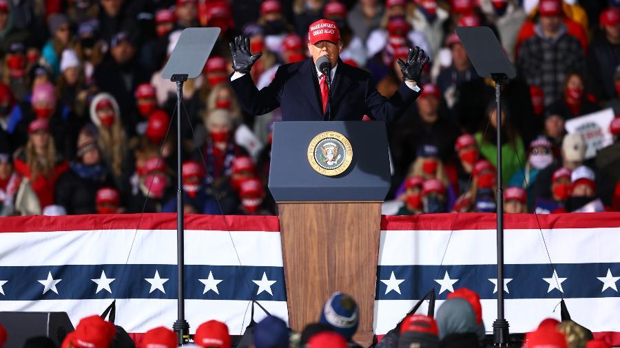 Trump ataca LeBron durante comício e se anima com ofensa ao astro - Rey Del Rio/Getty Images