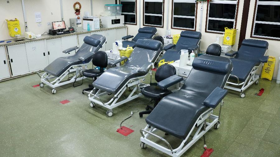 Sala de doação de sangue no Hemoam, em Manaus - Divulgação/Hemoam