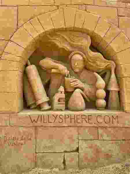 Equipe esculpiu imagens no castelo de areia erguido na Dinamarca - Divulgação/Wilfred Stijger - Divulgação/Wilfred Stijger