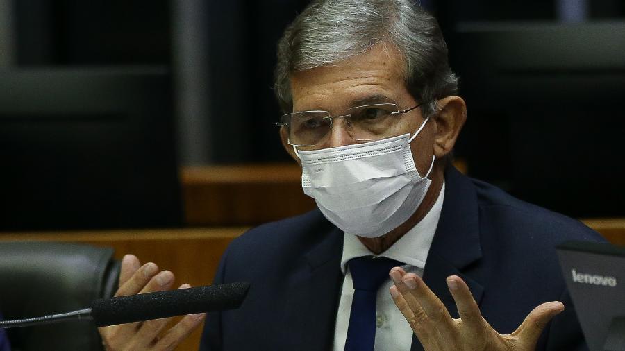 """""""Entendemos que isso [aumento] está com o governo"""", disse o presidente da Petrobras, Joaquim Silva e Luna - Pedro Ladeira/Folhapress"""