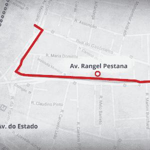 Mapas ciclovia - Rangel Pestana - Arte UOL