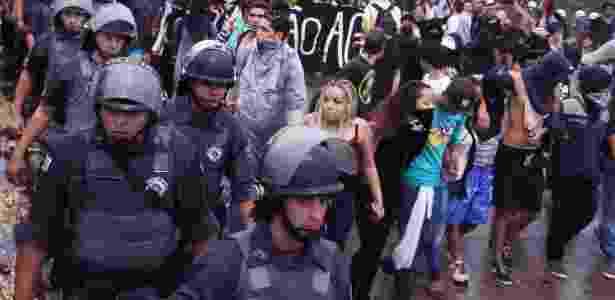 MPL marcou para terça-feira nova manifestação contra reajuste das tarifas de transporte coletivo -  Alex Falcão/Futura Press/Folhapress