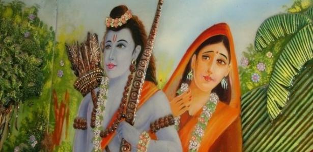 Deus Rama é reverenciado por milhões de hinduístas