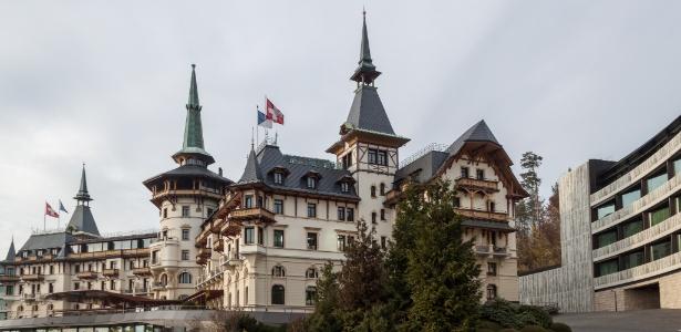Grand Hotel Dolder, em Zurique, na Suíça, onde o casal Cunha se hospedou