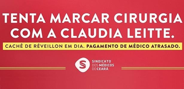 Campanha do Sindicato dos Médicos do Ceará critica gastos da prefeitura