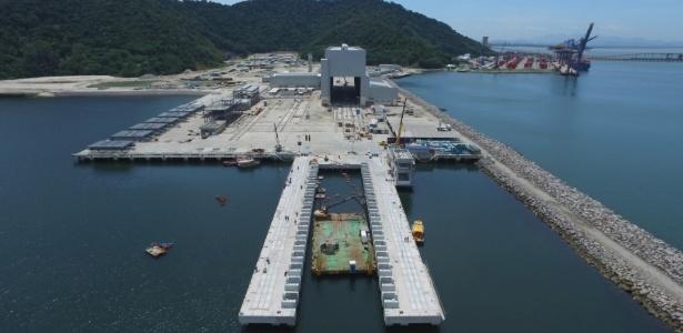 Estaleiro em construção no litoral do Rio que é parte do programa brasileiro de construção de submarinos