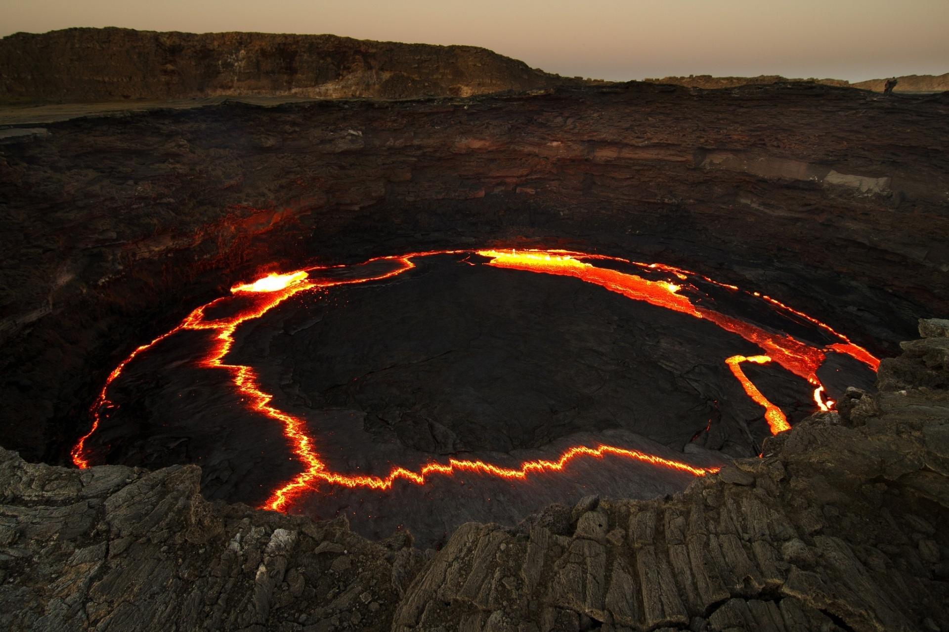 5.jul.2017 - Vulcão Erta Ale, na Etiópia