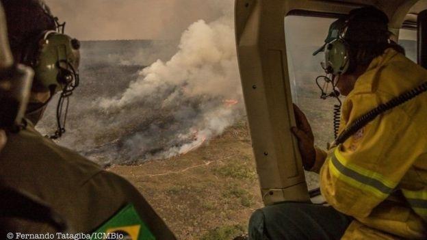 ICMBio diz que ainda há três frentes de combate às chamas no Parque da Chapada Veadeiros