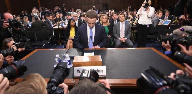 Mark Zuckerberg está no Congresso norte-americano para audiência