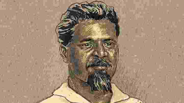 Conhecido como Dragão do Mar, jangadeiro Francisco José do Nascimento foi incorporado à 'propaganda' do movimento abolicionista - André Valente/BBC Brasil - André Valente/BBC Brasil