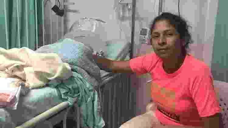 Maria está confiante de que seu filho terá acesso à saúde - BBC