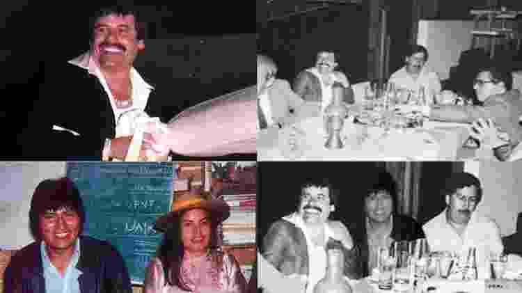 Fotografias usadas para fabricar montagem com El Chapo, Evo Morales e Pablo Escobar - Reprodução