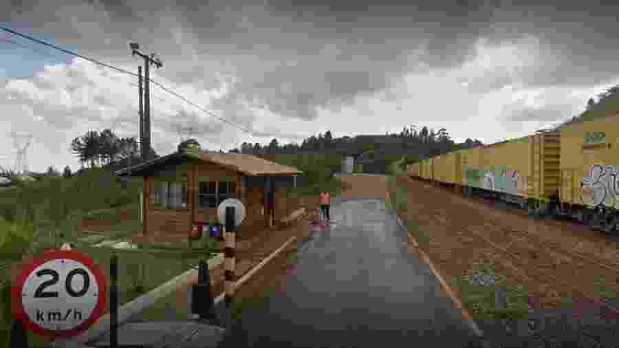 Terminal ferroviário Olhos d´Água, da empresa Vale, em Belo Horizonte, onde um talude sofreu erosão e pode haver deslizamento de terra - Reprodução/Google Maps