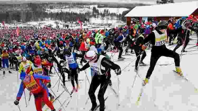 Salen, uma das estações de esqui mais concorridas da Suécia, continua aberta ao público enquanto no resto do continente as atividades turísticas foram paralisadas - Getty Images