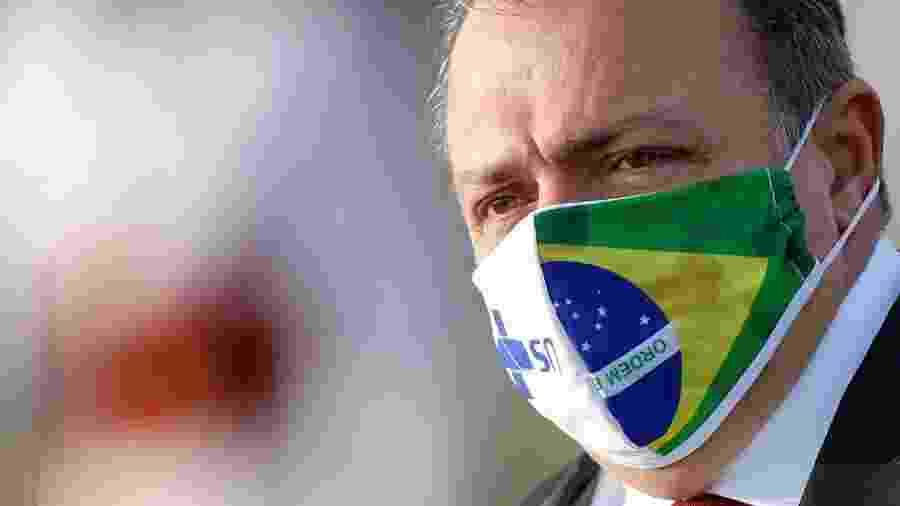 Ministro da Saúde, general Eduardo Pazuello, em Brasília - Reprodução