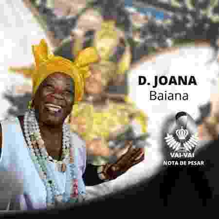 Dona Joana Barros, chefe da Ala das Baiana da Vai-Vai - Reprodução/Facebook/Escola de Samba Vai-Vai