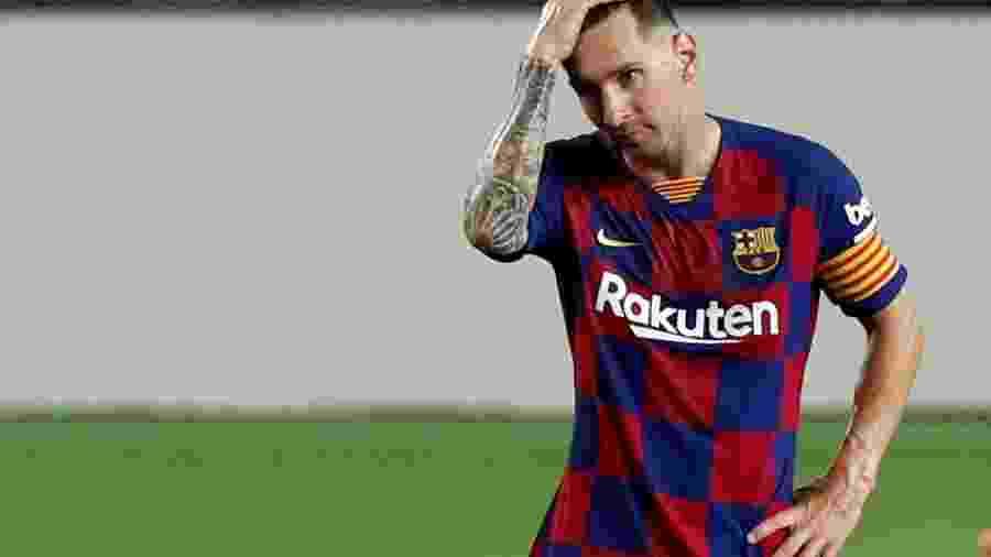 Lionel Messi em partida entre Barcelona e Atlético de Madri - Albert Gea
