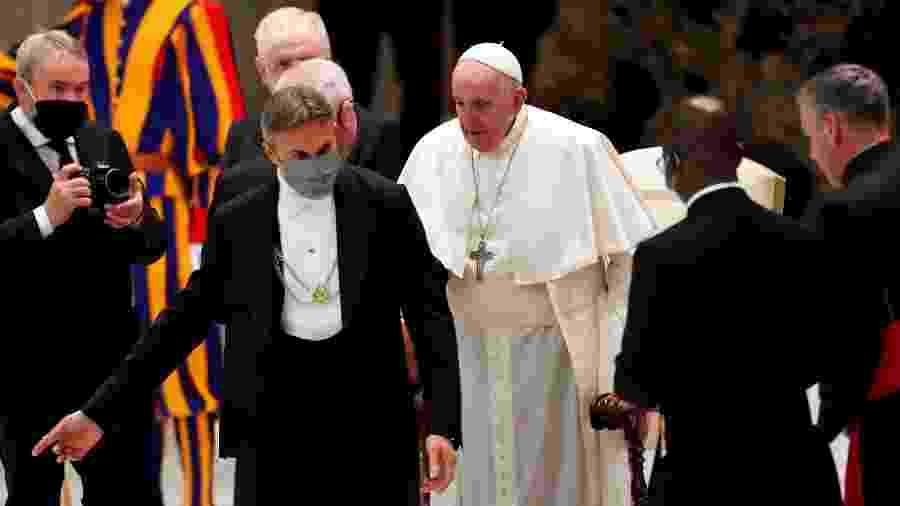 O papa Francisco participando de audiência geral no Vaticano - Yara Nardi/Reuters