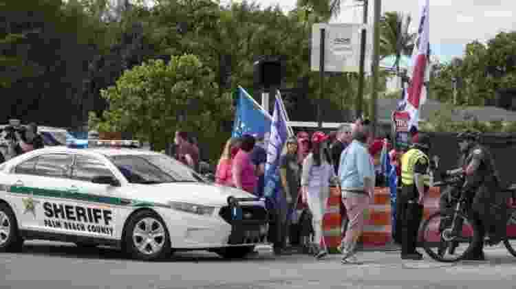 Gabinete do Xerife do Condado de Palm Beach trabalha com o Serviço Secreto dos EUA há anos para proteger Trump e sua família - EPA - EPA