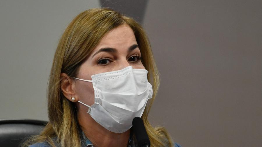 A secretária de Gestão e Trabalho do Ministério da Saúde, Mayra Pinheiro, teria feito treinamento antes de depor à CPI - MATEUS BONOMI/AGIF - AGÊNCIA DE FOTOGRAFIA/ESTADÃO CONTEÚDO